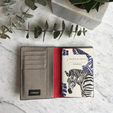 Gemma Passport Holder in Zebra