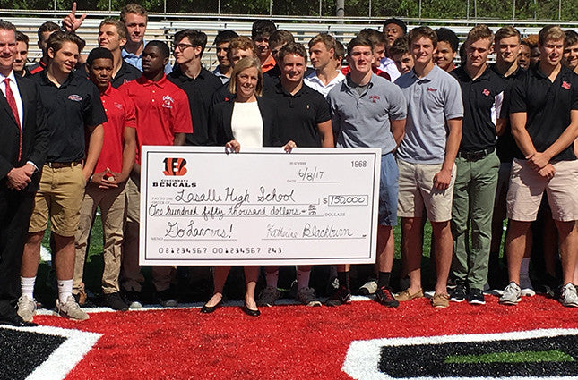 Bengals and NFL Foundation Donate $150,000 to La Salle High School for New Football Field | Giovani Bernard