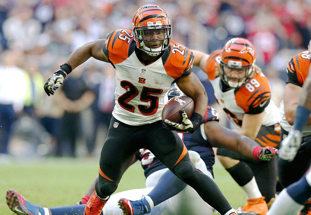 Jeremy Hill and Gio Bernard act as thunder and lightning in the Bengals' backfield