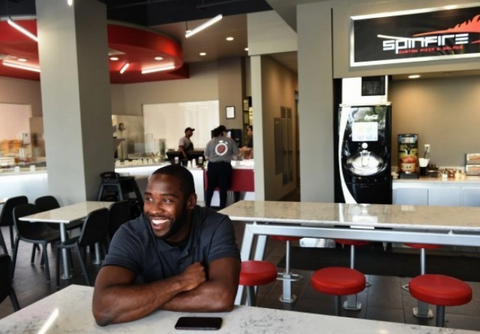 Pierre Garcon's SpinFire Pizza business is taking off.