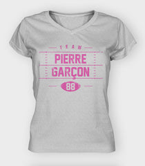 Team Pink V-Neck - Women's | Pierre Garcon