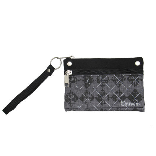Argyle Wristlet Wallet - Black/ Charcoal