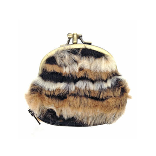 Draven Fur Coin Purse in brown
