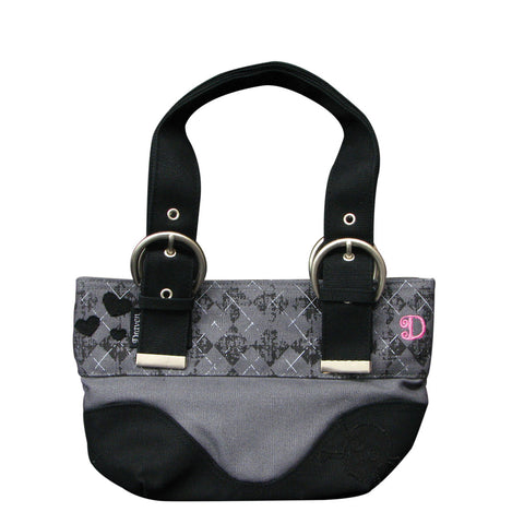 Draven Argyle Purse - Charcoal Front
