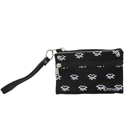 Heartless Wristlet Wallet - Black