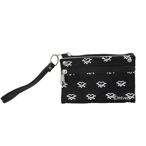 Draven Heartless Wristlet Wallet in black