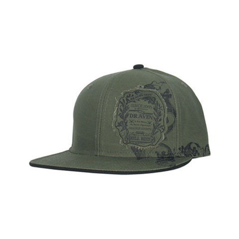 Draven Hellbent Snap-back Hat in Olive