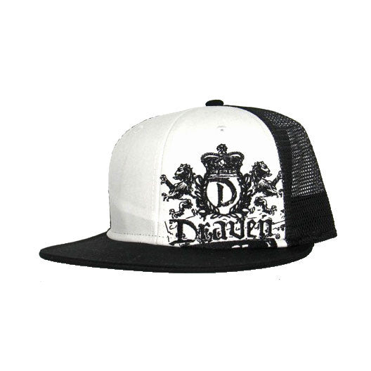 Lion Crest Black White Draven Hat