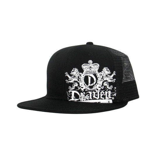 Lion Crest Trucker Hat-Black
