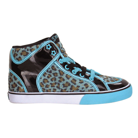 Draven Rogue Leopard High Tops- Blk-Blu