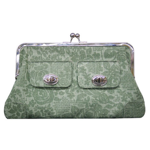 Draven Bohemian Clutch Wallet in Green