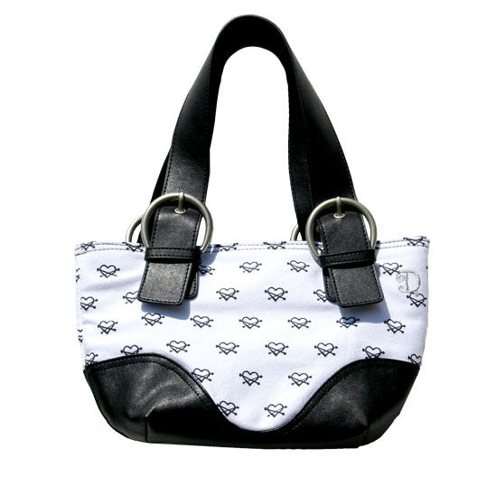 Heart Tote - Black/White