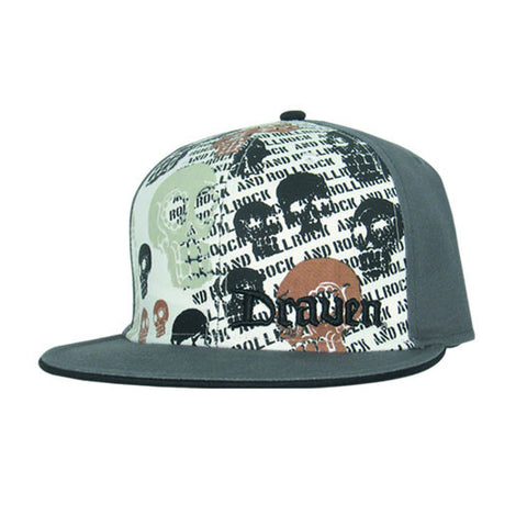 Draven Muerto Fitted Hat in Gray