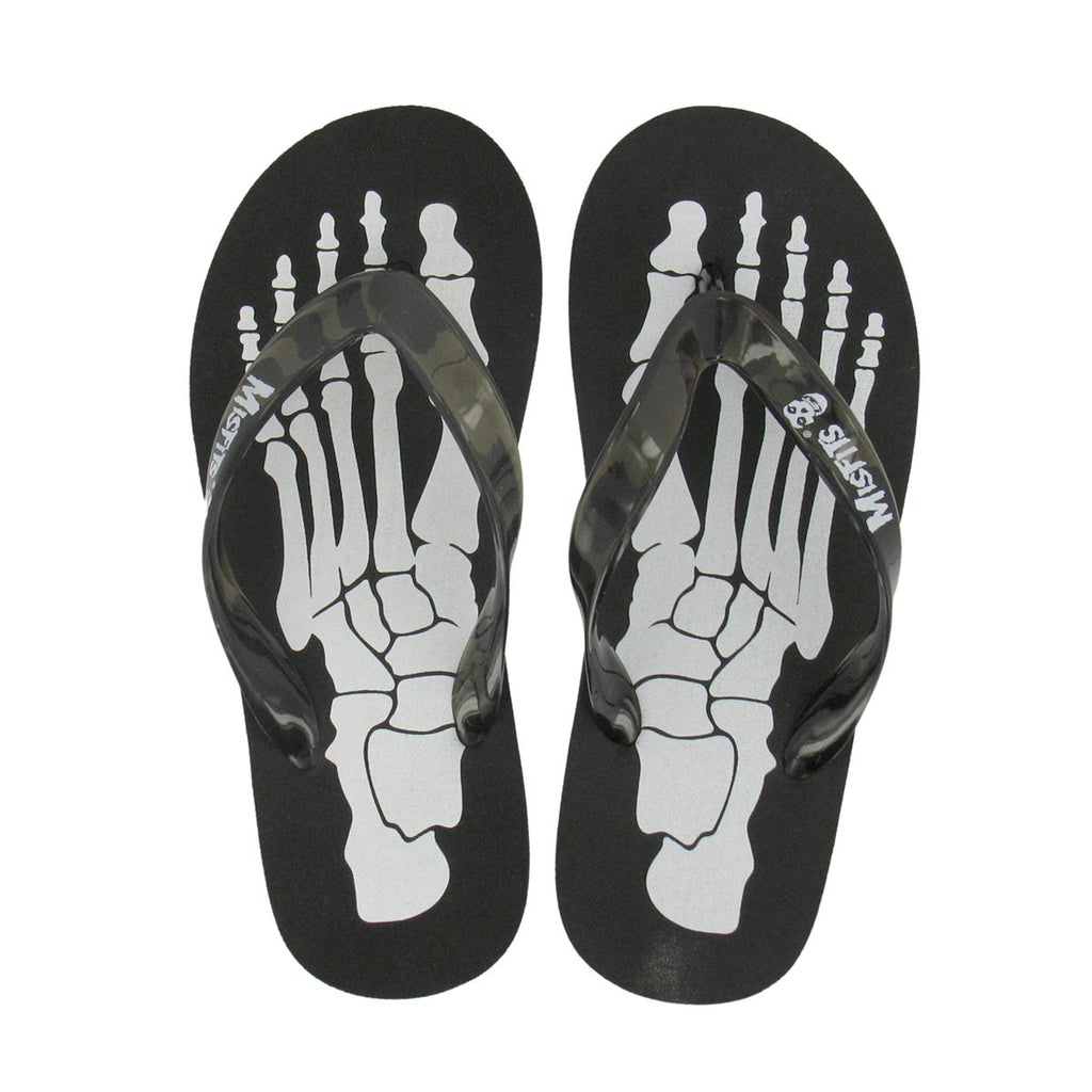 Misfits Skeleton Flip Flop-top