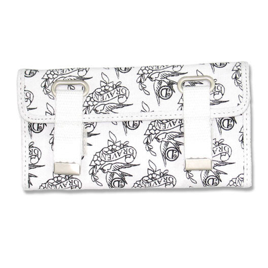Draven Swallow Wallet in white