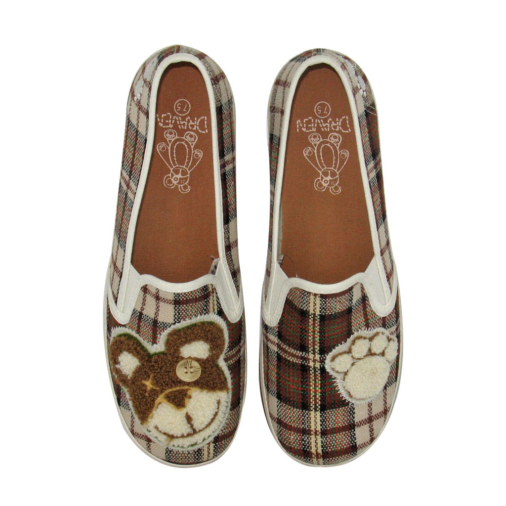 Teddy Bear Round Toe Brown Top Shot