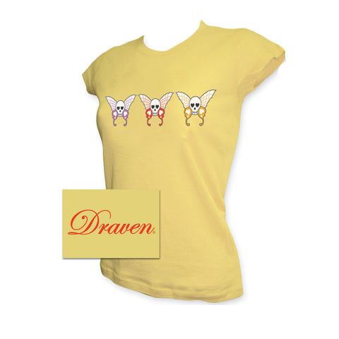 Draven Girls ButterSkullFly Tee