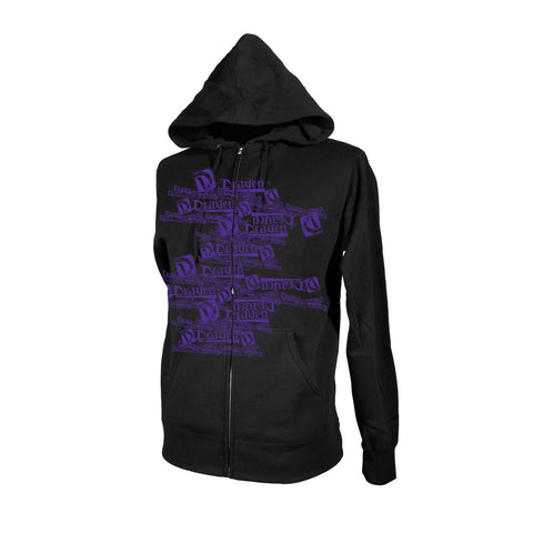 Draven Men's Multi Draven Zip Up Hoodie-Blk/Pur