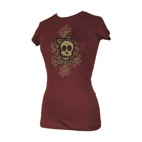 Draven Girls Swirl Skull T-Shirt