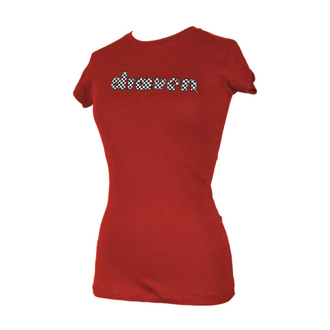 Draven Girls Check It T-Shirt-Red