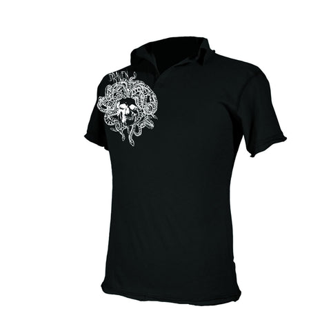 Draven Men's Medusa Polo T-Shirt-Blk