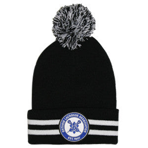 Ontario Lacrosse Association Striped Cuff Pom Pom Toque