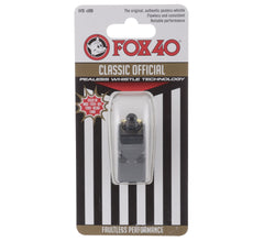 Fox 40 Classic Officials Pealess Whistle with Breakaway Lanyard
