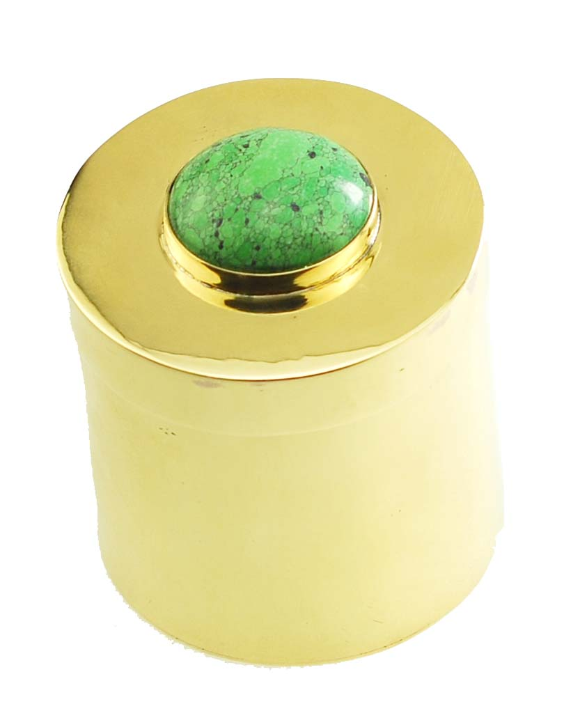 Jeweled Brass Ring Box. Available in many color stones!