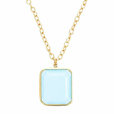 Jacobs Necklace in Aqua Chalcedony. Sale Price $126