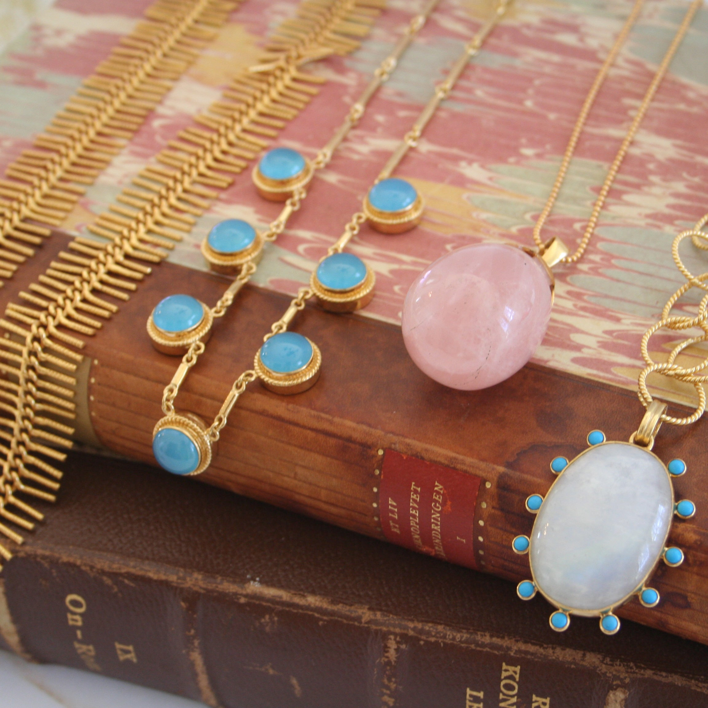 Gemstone Necklaces.