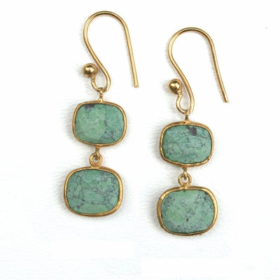 Whitten Drops in Green Turquoise. $48