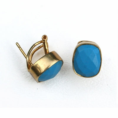 Whitten Studs in Blue Turquoise. Sale Price $44