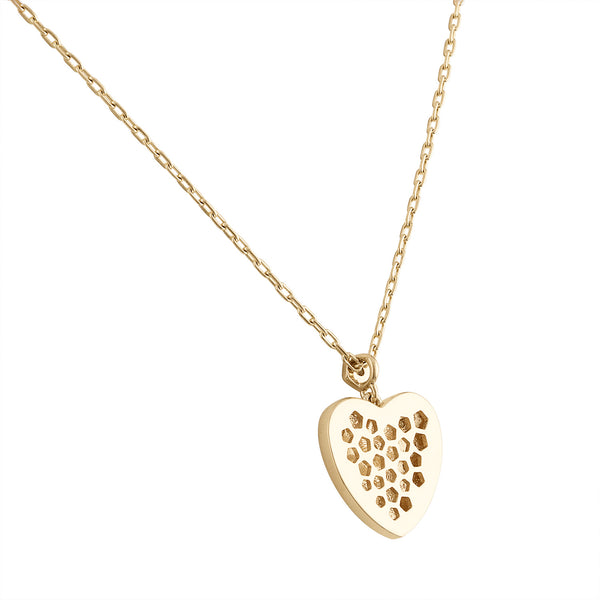 Signature Heart Necklace with Diamonds
