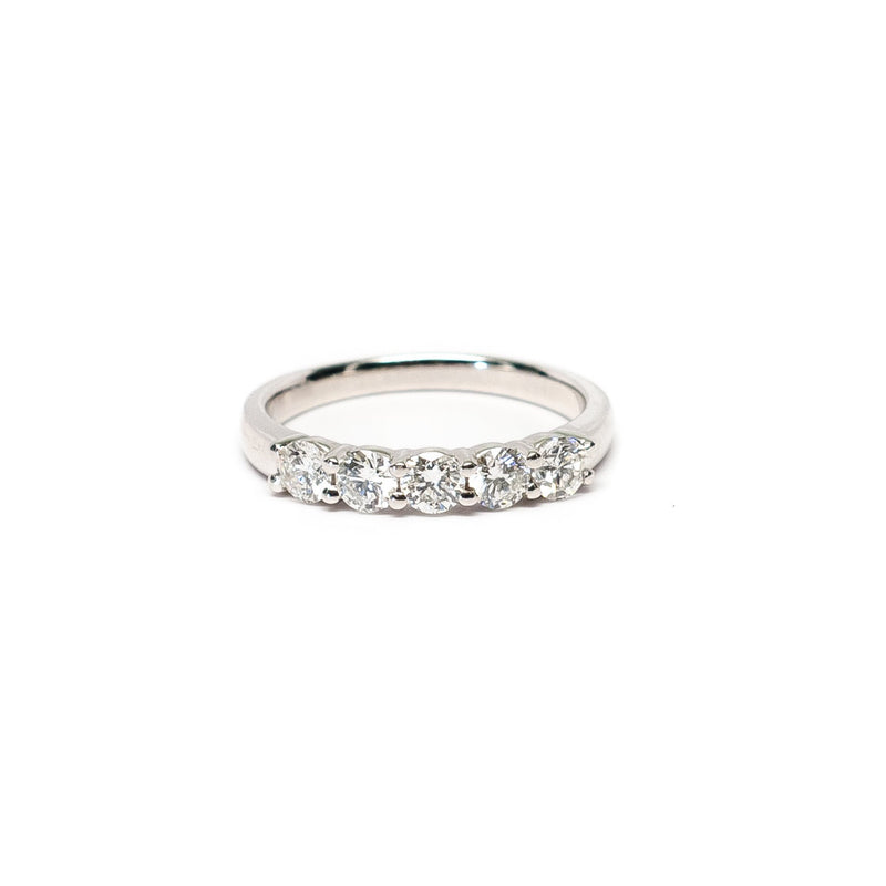 5 Diamond Shared Prong Band - Ring - frannieb