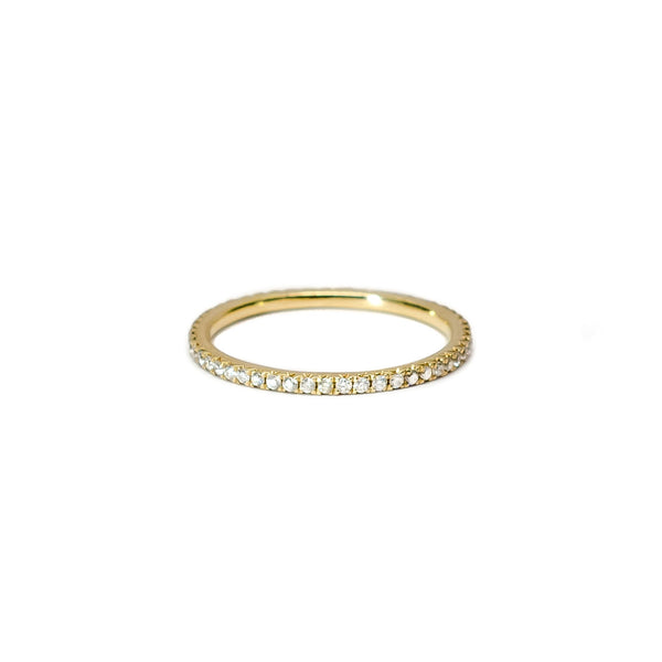Pave Eternity Stack Ring (0.30 tcw)