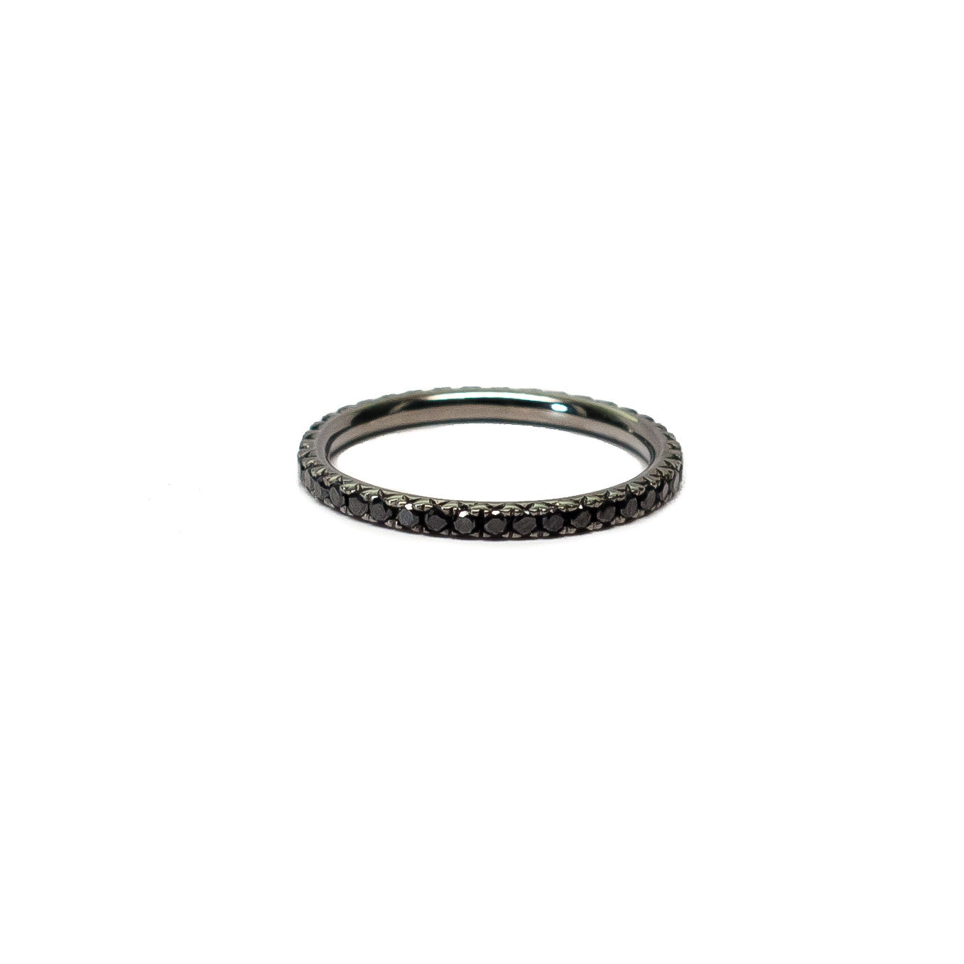 Black Diamond Pave Eternity Stack Ring (0.60 tcw)