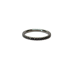 Black Diamond Pave Eternity Stack Ring (0.60 tcw) - Ring - frannieb