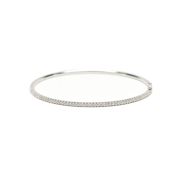 Pave Half Around Diamond Bangle - Bracelet - frannieb