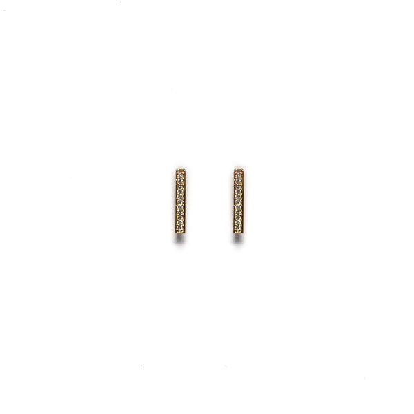Medium Diamond Bar Earrings - Earrings - frannieb