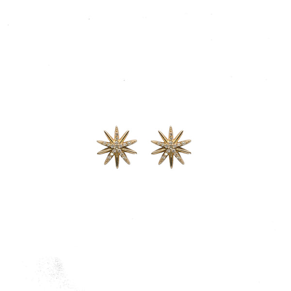 Diamond Starburst Earrings - Earrings - frannieb