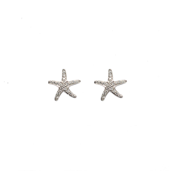 Diamond Starfish Earrings - Earrings - frannieb
