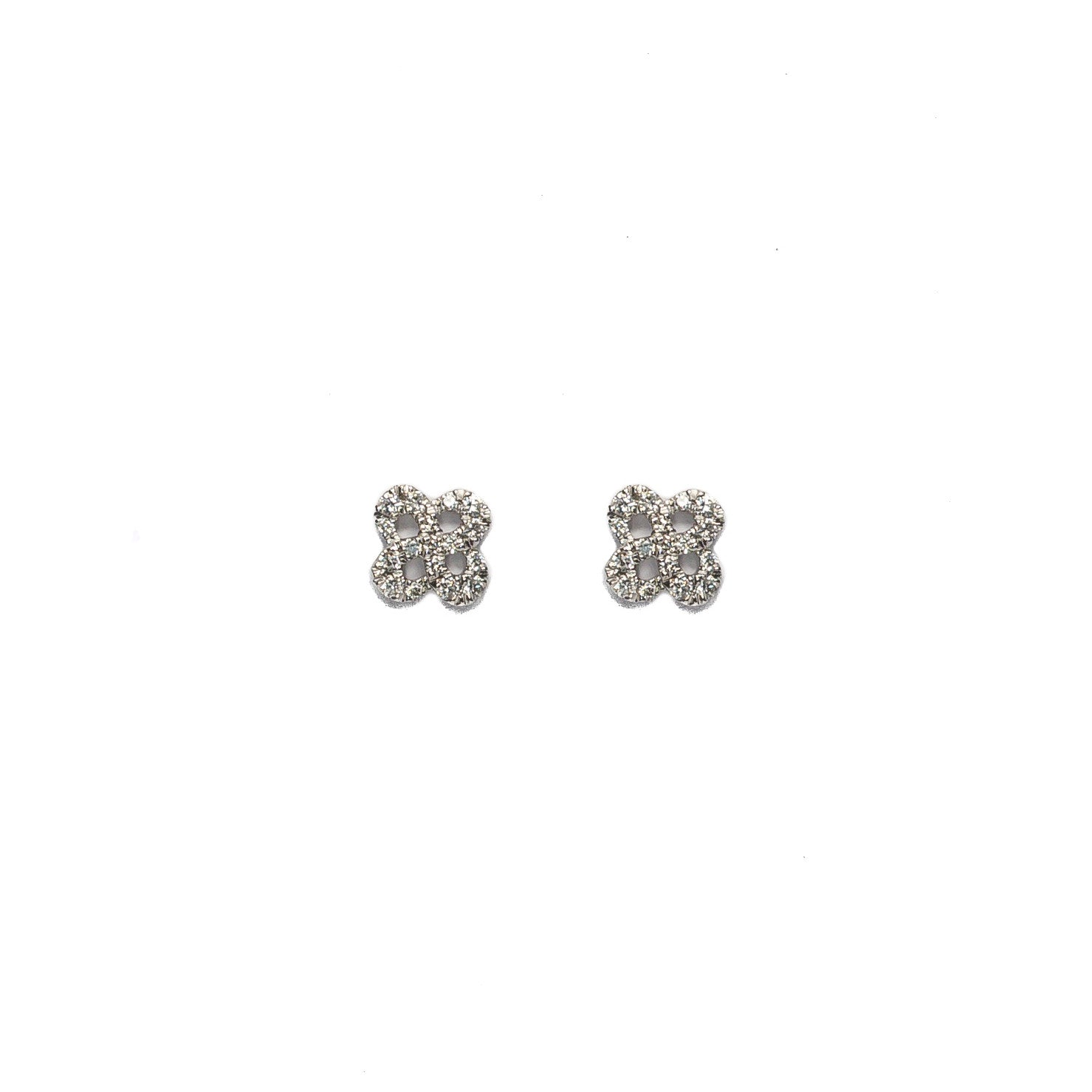Diamond Clover Earrings