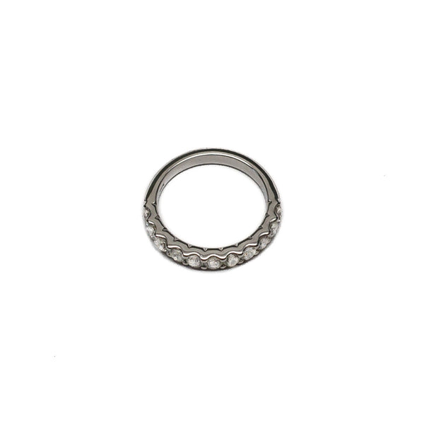 Half Around Diamond Shared Prong Band - Ring - frannieb