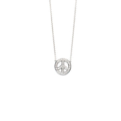 Diamond Peace Sign Necklace - Necklace - frannieb