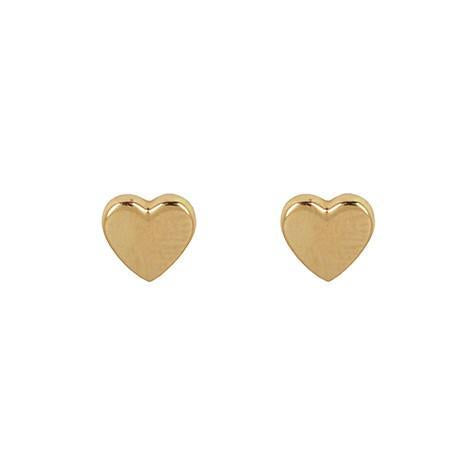 Gold Heart Earrings - Earrings - frannieb