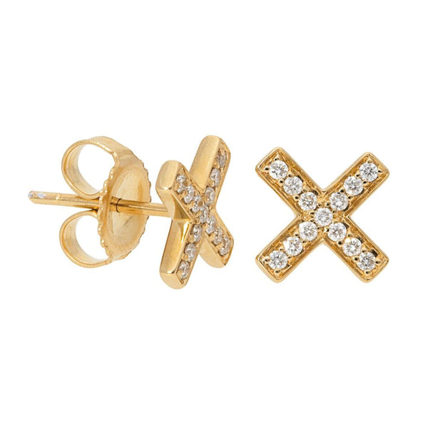 Diamond X Earrings - Earrings - frannieb