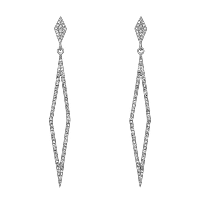 Long Open Diamond Earrings