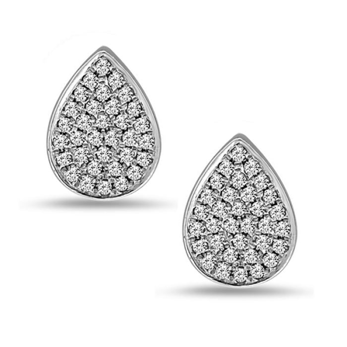 Diamond Tear Drop Earrings