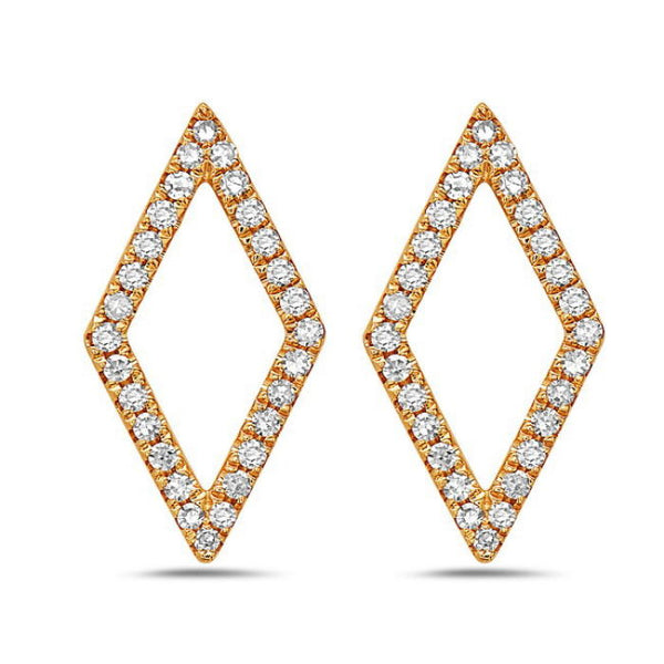 Open Diamond-Shape Earrings - Earrings - frannieb