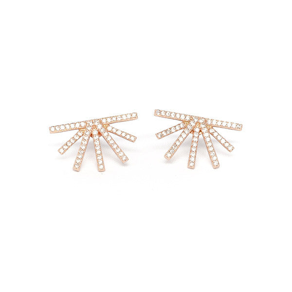 Half Starburst Earrings - 0.82 carat